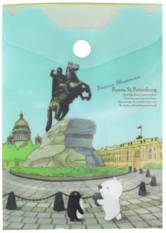 "Папка-конверт на кнопке А6 ""Санкт-Петербург"" (A1856SP)"