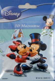 "3D магнит ""Микки Новогодний"" MARRMK-132, ассортимент (317121)"