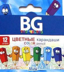"Карандаши цветные трехгранные ""Mini"" (12 цветов) (KR12C_m 4642)"