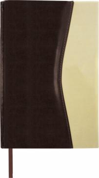 Ежедневник недатированный (160 листов, А5), De Luxe, коричневый/бежевый (123403)