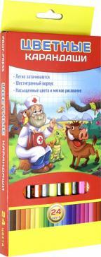 """Карандаши 24 цвета """"ЗАБОТА О ДРУГЕ"""" (К-7029)"""