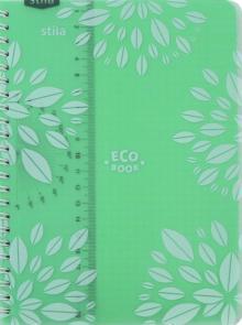 """Тетрадь """"ECO BOOK"""", мятная (96 листов, А5, клетка) (84002)"""