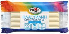 """Пластилин """"Классический"""", белый, 50 гр (270818_14)"""