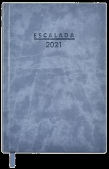 """Еженедельник датированный на 2021 год """"Софт-тач, голубой"""" (80 листов, А5, линия) (52340)"""