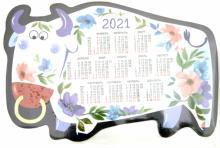 """Календарь на магните с вырубкой на 2021 год """"Год быка. Белый"""""""