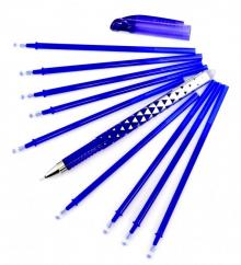 """Ручка гелевая со стираемыми чернилами """"M-5310T"""" + 9 стержней, синяя (M-5310T)"""