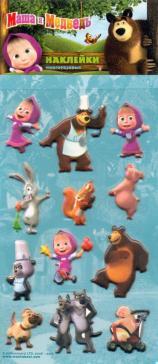 "Набор многоразовых наклеек ""Маша и Медведь 2"""