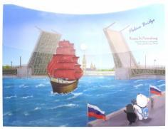 "Папка-конверт на кнопке ""Дворцовый мост"" (A7580 PB )"