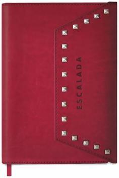 Ежед-органайзер недатированный 96 листов, А5+, БОРДОВЫЙ + СЕРЕБРИСТЫЕ КЛЁПКИ (47405)