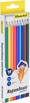 """Карандаши цветные """"Народная коллекция"""", 18 цветов, шестигранные (134214-18)"""