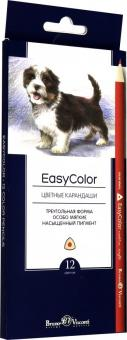 """Карандаши цветные """"Easycolor"""" (12 цветов, трехгранные) (30-0028)"""