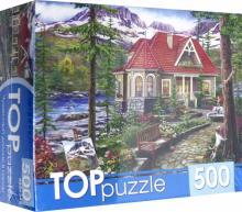 """Puzzle-500 """"ЧУДЕСНЫЙ ДОМИК В ГОРАХ"""" (ХТП500-5729)"""