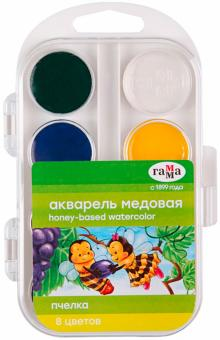"Краски акварель ""Пчелка"" 8 цветов (212068)"