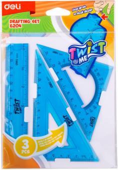 Набор линеек: линейка 15 см/треугольники 2 шт.  (E6204)