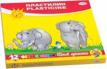 """Пластилин со стеком """"Юный художник"""", 12 цветов (280045)"""