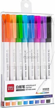 Набор маркеров для досок, 8 цветов, круглый пишущий наконечник (S504)