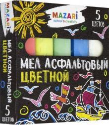 Мел цветной (5 цветов) асфальтовый (M-9006)