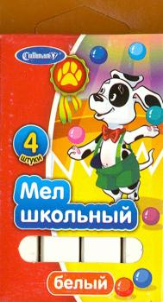Мел школьный (4 штуки, белый) (FMB-4Dal)