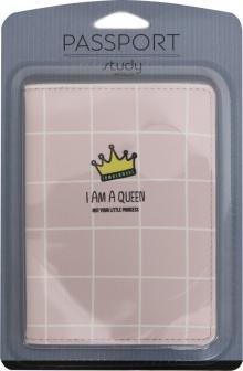 """Обложка для паспорта """"Funny"""", корона (IPC026)"""