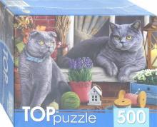 """TOPpuzzle-500 """"Два британских кота"""" (ХТП500-4214)"""