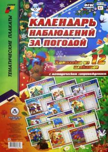 Комплект плакатов Календарь наблюдений за погодой. ФГОС