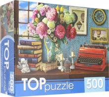 """TOPpuzzle-500 """"Натюрморт с печатной машинкой"""" (ХТП500-6828)"""