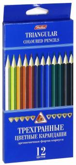 Карандаши цветные трехгранные (12 цветов) (BKt_12400)