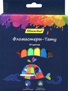 """Фломастеры-тату """"Цветландия"""", 10 цветов (877070-10)"""