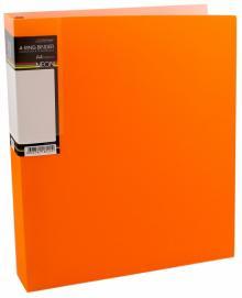 Папка на 4 кольцах, пластиковая NEON 4-RING BINDER, оранжевая (4AB4_02035)