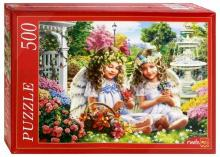 "Puzzle-500 ""ДВА АНГЕЛА В САДУ"" (Ф500-5140)"