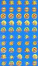 """Наклейки для поощрения Солнышки """"SUPER"""" (НМ-8106)"""