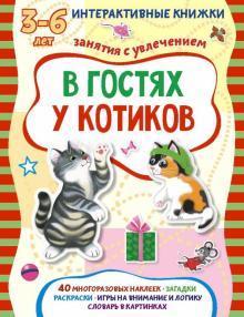 В гостях у котиков. Книжка с наклейками