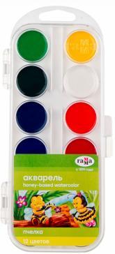 Краски акварельные 12 цветов (9-14)