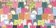 """Планинг недатированный """"Цветные котики"""" (165х85 мм, 64 листа) (50692)"""