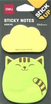 Закладки самоклеящиеся бумажные (2 цвета по 20 листов, 76х76 мм, в ассортименте) (EA55002)