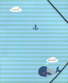 Папка на резинке А5+, Sea, кит (N1311)