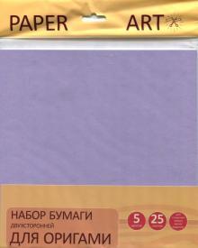 """Бумага для оригами двухсторонняя """"Нежные тона"""" (25 листов, 5 цветов) (ЦБО255288)"""