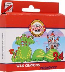 Мелки восковые 24 цвета (8234)