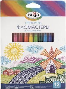 """Фломастеры (12 цветов) """"Классические"""" (180319_11)"""