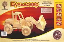 """Сборная деревянная модель """"Бульдозер"""" (P029)"""