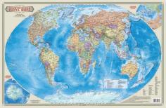 Настольная ламинированная карта