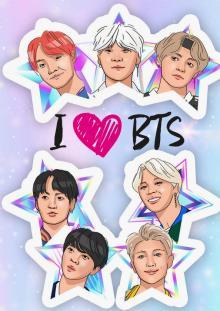 """Обложка для паспорта """"I love BTS"""""""