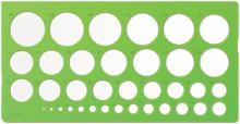 Трафарет окружностей (1-36 мм) (ТТ21)
