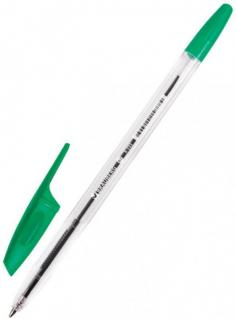 "Ручка шариковая ""Brauberg X-333"" зеленая (142408)"