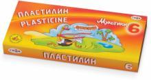 """Пластилин """"Мультики"""" со стеком, 6 цветов (280015)"""