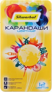 Карандаши цветные, 12 цветов, Солнечная коллекция, металлическая упаковка (134220-12)