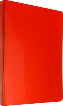 """Папка с прозрачными вкладышами """"DeLuxe"""" (10 вкладышей, красный) (DLV10RED)"""
