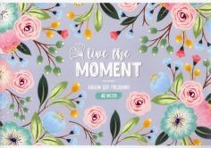 """Альбом для рисования 40 листов """"Live the moment"""" (А40_36038)"""