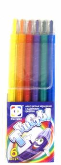 Набор цветных карандашей с выдвижным грифелем. 6 штук (710032)