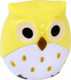 Точилка 2 отверстия, ручная, Owl пластик, цвета в ассортименте.